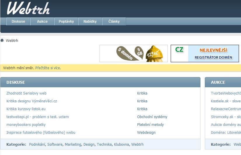 Jde Webtrh správným směrem?