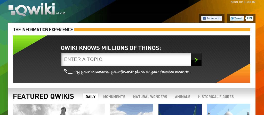 Qwiki.com zatím v zárodku