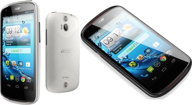 Nový smartphone Acer Liquid E1