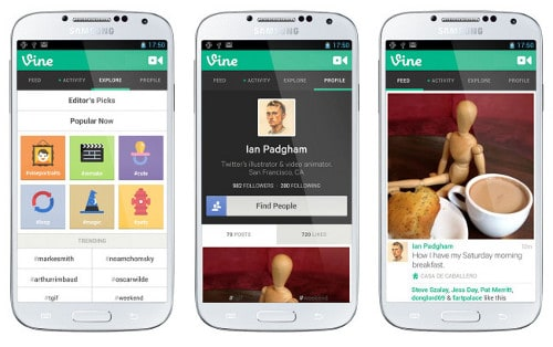 Vine pro Android