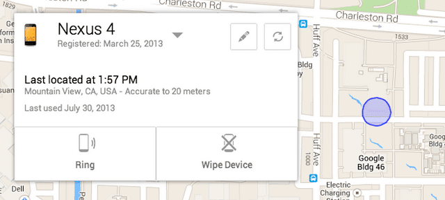 Android Device Manager Loc