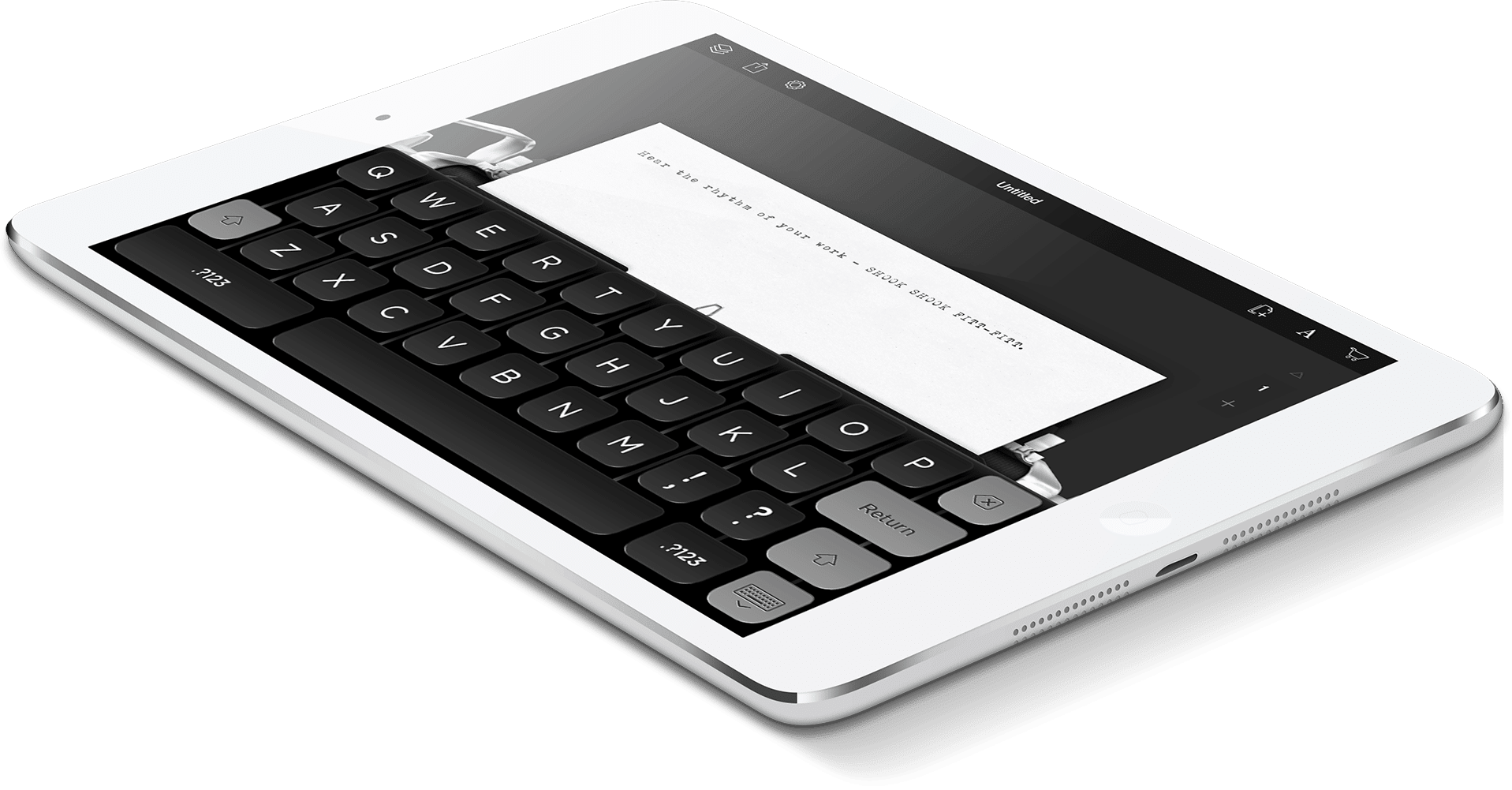 Hanx Writer: iPad psacím strojem