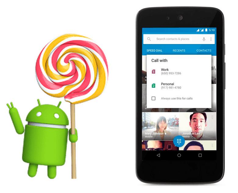 Google uvolnil Lollipop 5.1