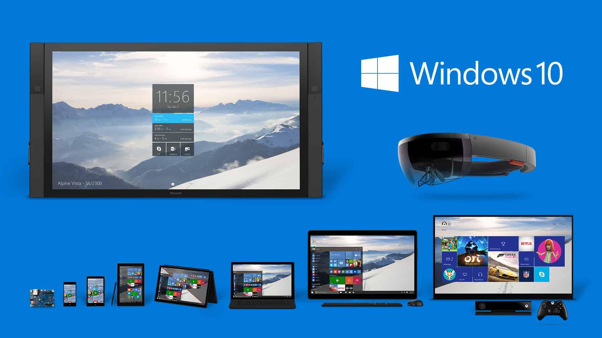 Produktova rodina Windows 10