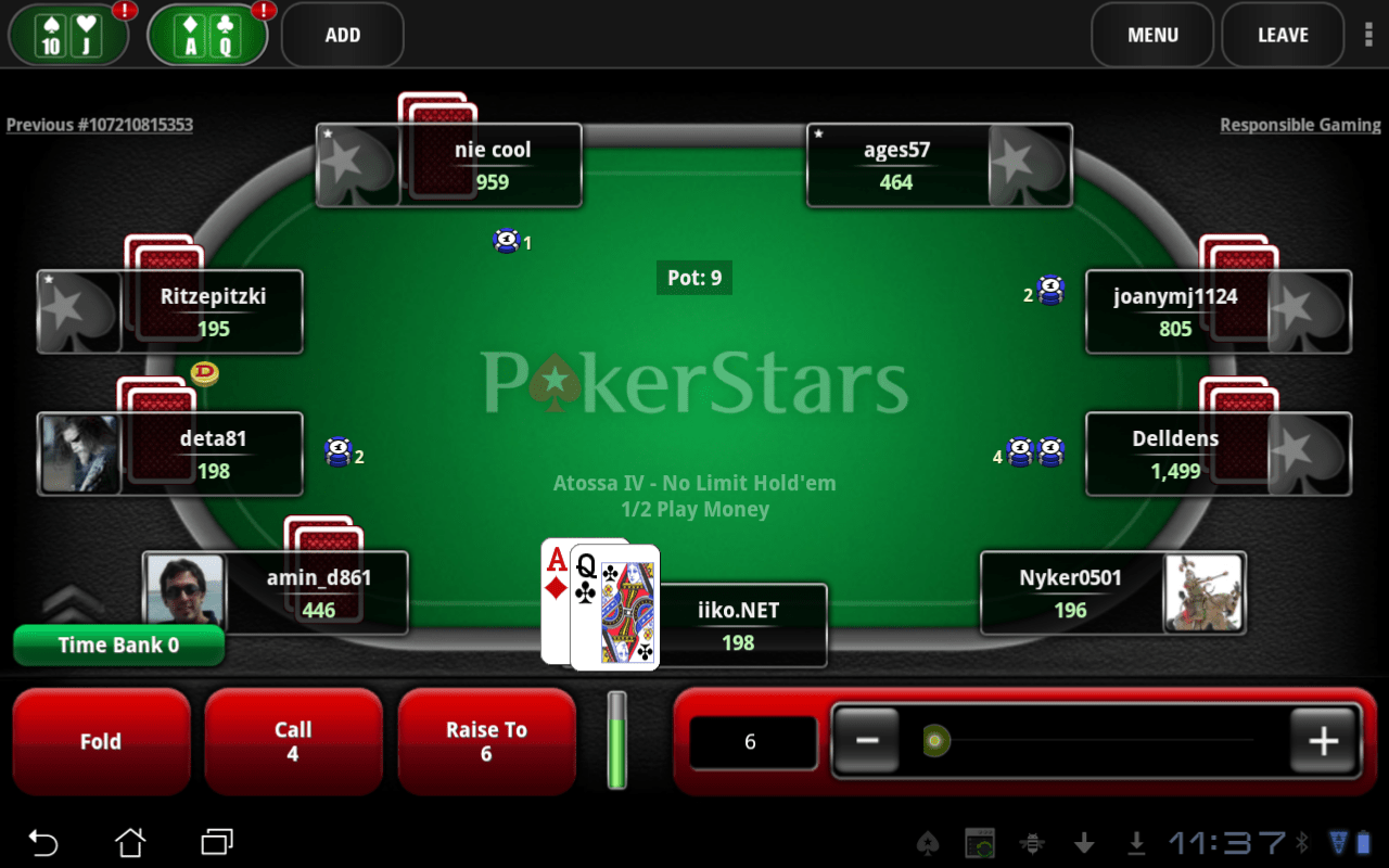 Poker Screen