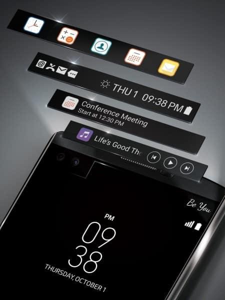 Takto je druhý displej řešen u modelu LG V10