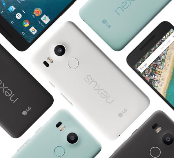 Nexus 5X barvy