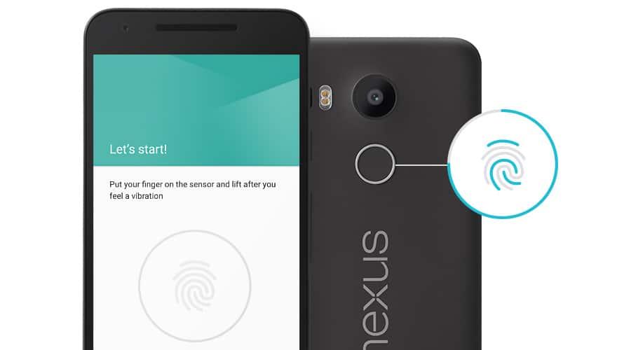Nexus 5X otisk