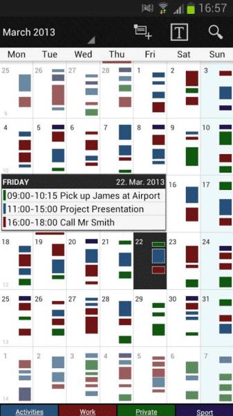 Business Calendar - aplikace