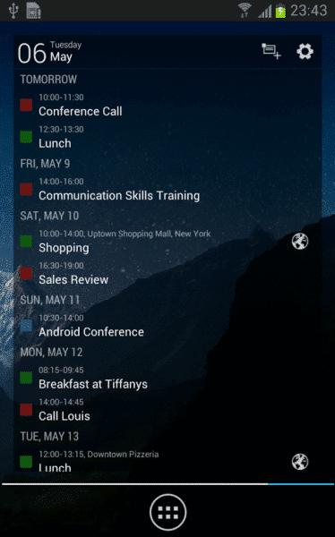 Business Calendar - Agenda