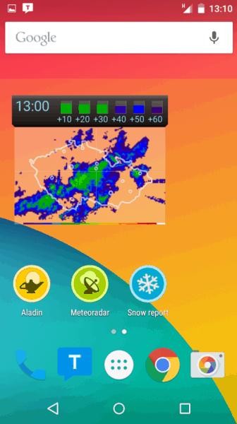 Meteor ukazuje aktuální snímky z radaru