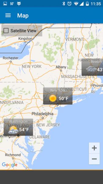Není problém sledovat počasí na více, než jednom místě