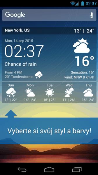 Počasí XL Pro - widget