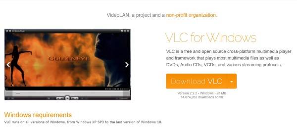 Stáhněte VLC Player a nainstalujte ho