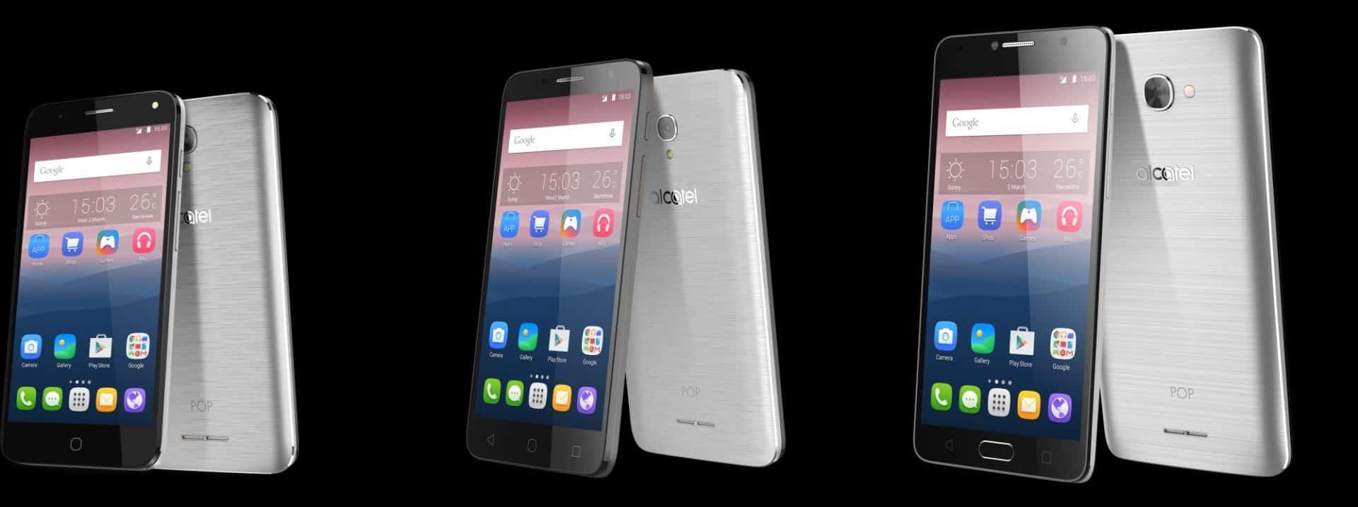Levné smartphony od Alcatelu - POP 4, POP 4 PLUS a POP 4S