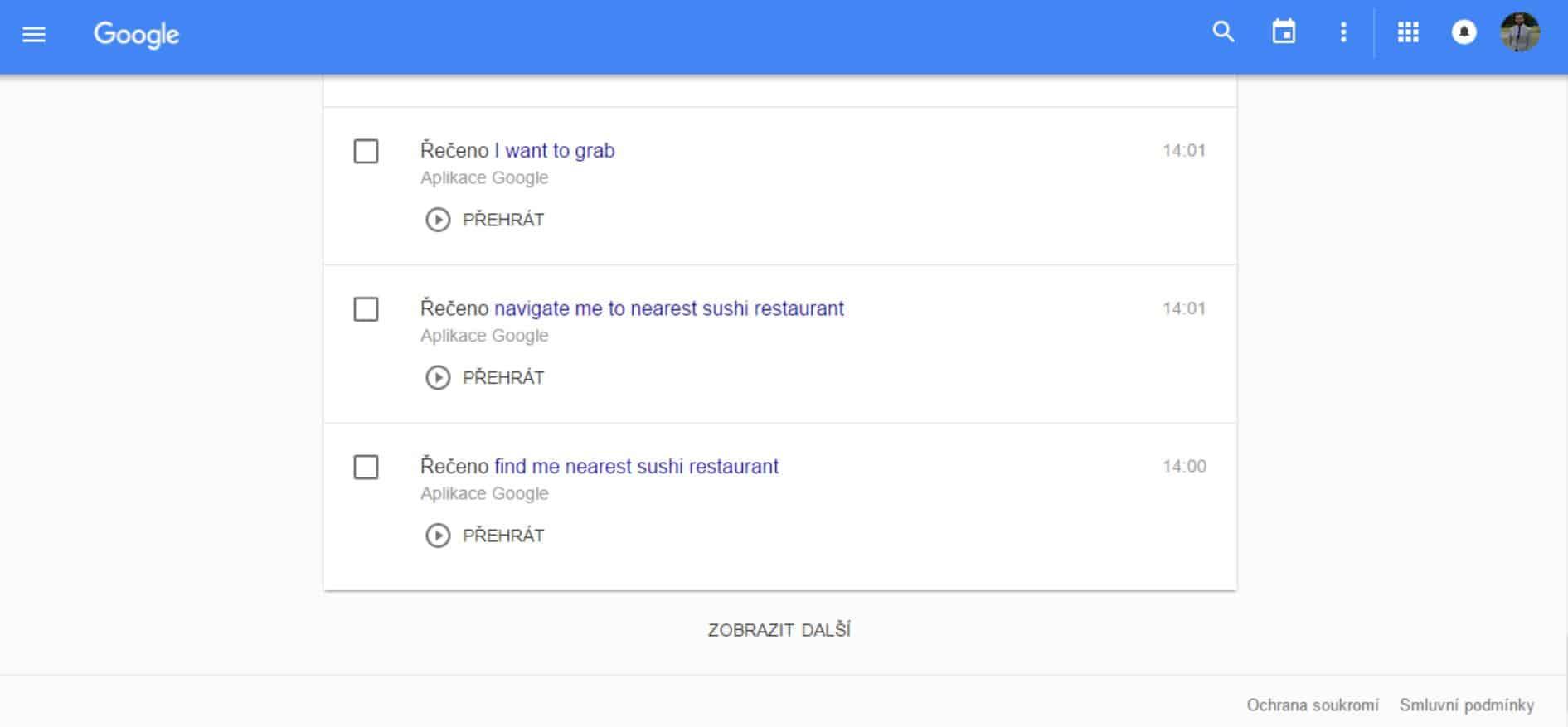 google voice activity