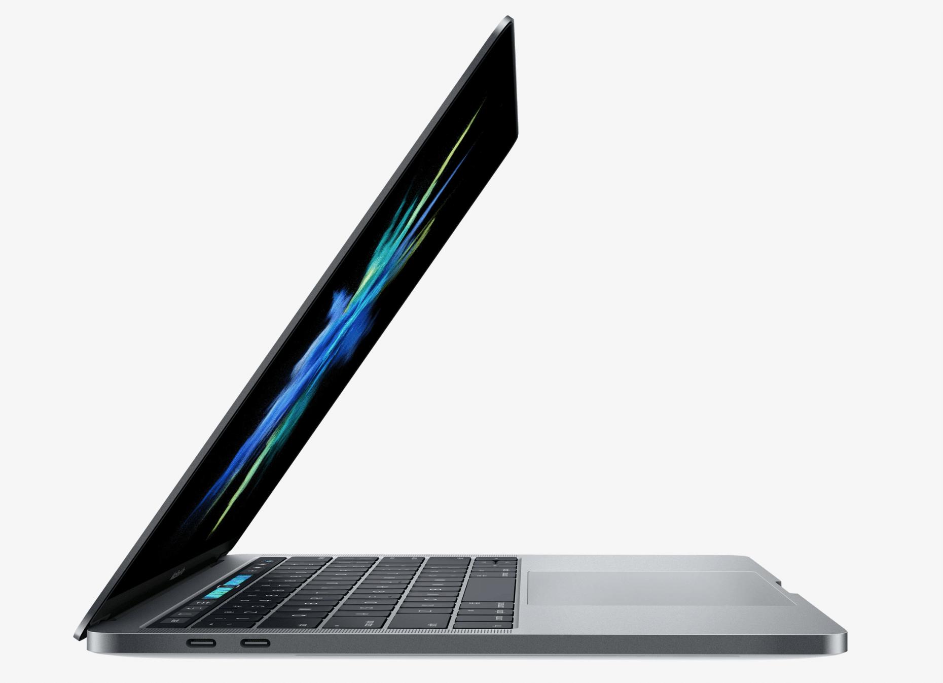 Strana MacBooku Pro 2016 skrývá rychlé porty