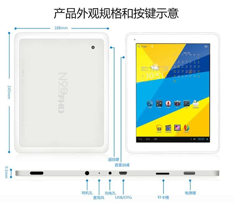 Tablet Window N90 FHD s Retina displejem a Jelly Beanem.