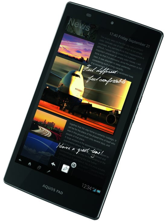 Tablet Sharp AQUOS Pad SHT21 s IGZO displejem