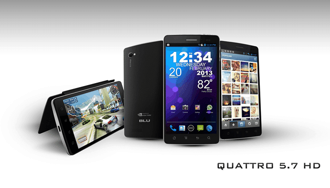 BLU Quattro 5.7 HD - tabletofon