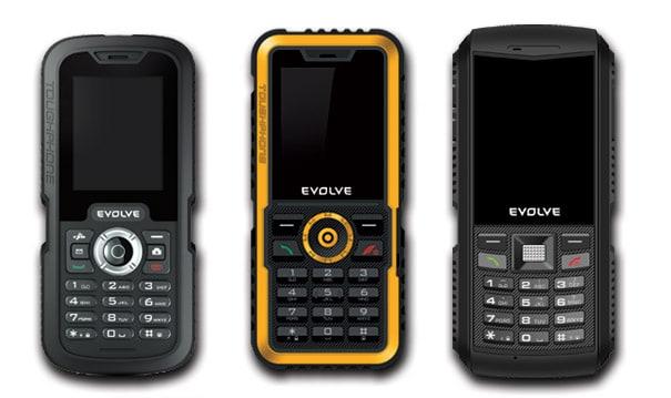 Evolve Gladiator - řada odolných telefonů