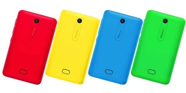 Nokia Asha 501 zadni strana