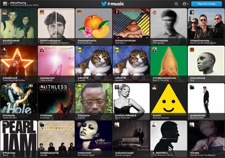 Prostředí Twitter Music