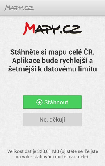 Offline mapy pro Android a iPhone od Mapycz