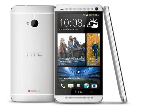 HTC One stribrny