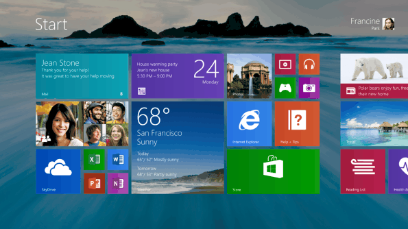Windows 8.1 Metro akt