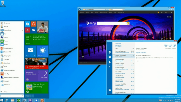 Windows 9 Desktop