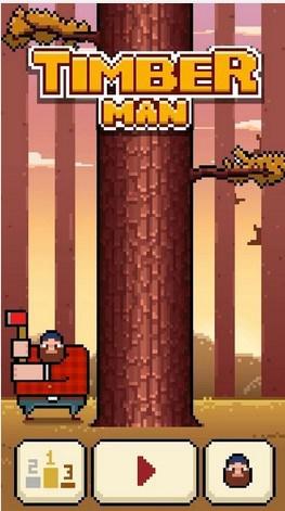 Hřiště: Dřevorubecká hra Timberman