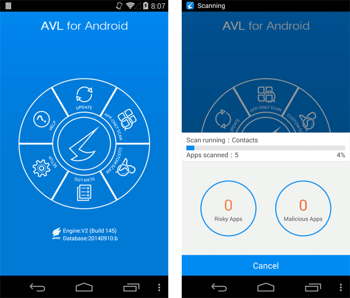 AVL pro Android