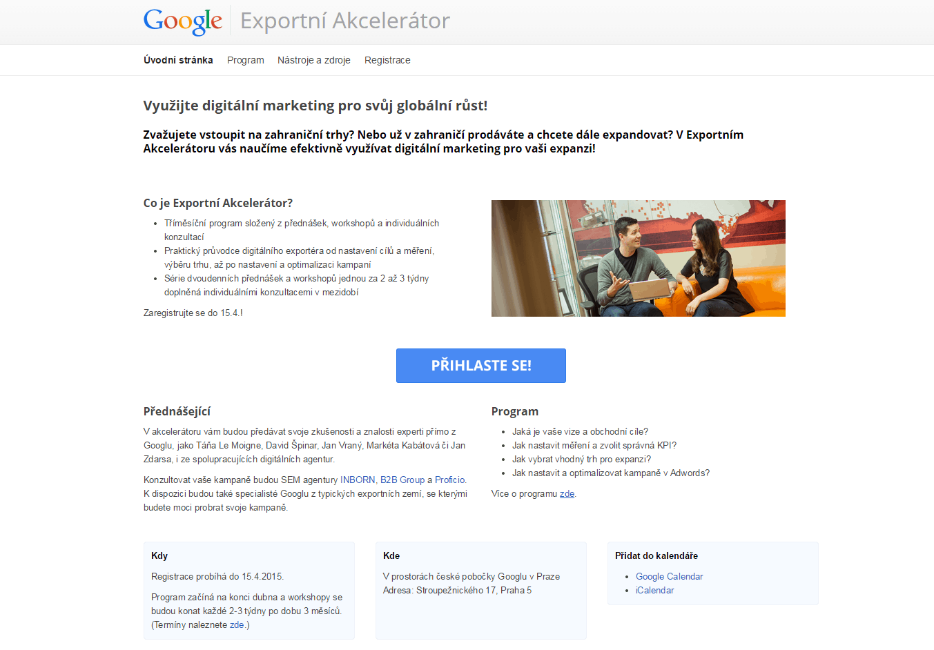 Exportni akcelerator Google