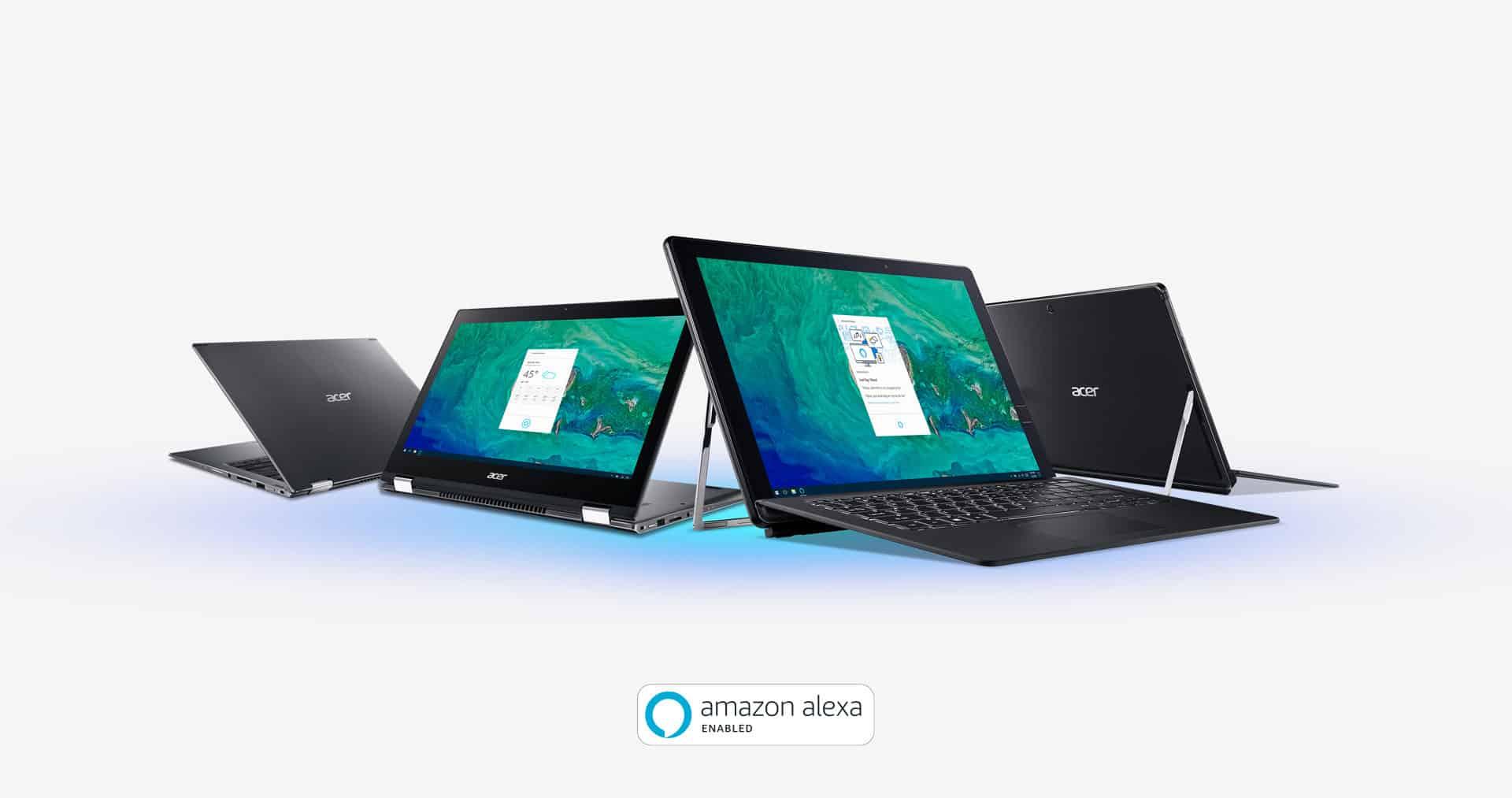 Acer v letošním roce přináší do vybraných počítačů asistentku: Amazon Alexa