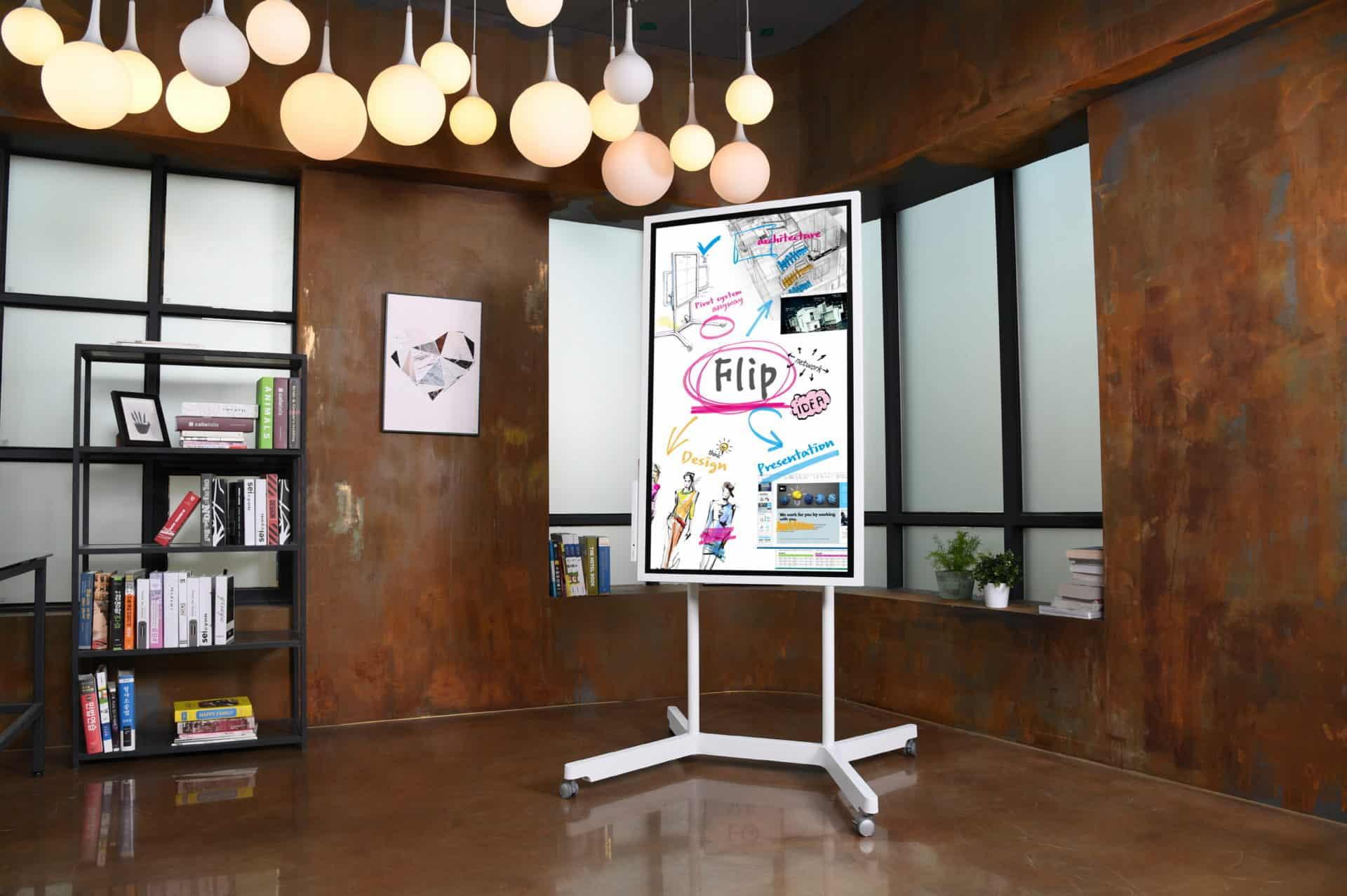 Nový interaktivní digitální flipchart od společnosti Samsung: CES 2018