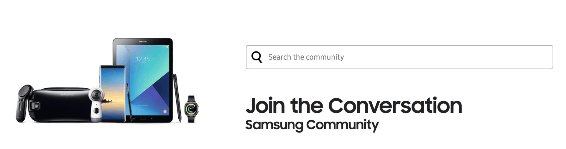 Jihokorejský Samsung spustil novou platformu Samsung Community