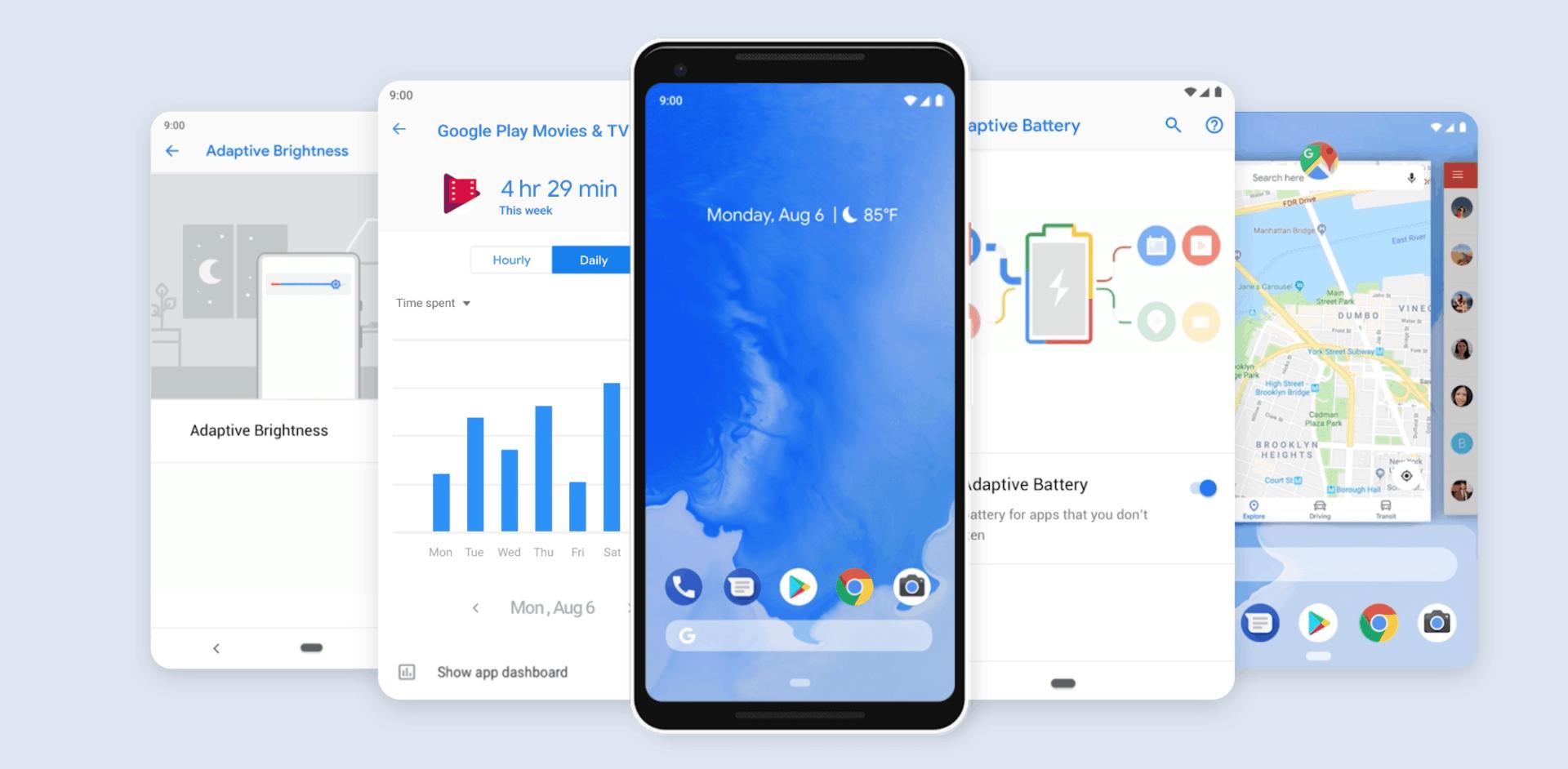Velký seznam telefonů, které dostanou aktualizaci Android 9 Pie