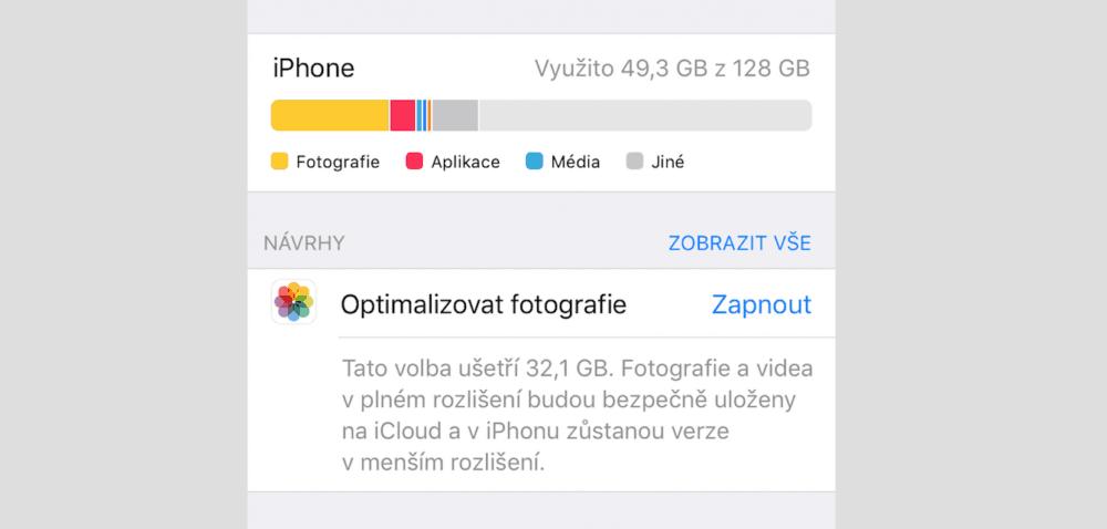 """Jak získat více volného místa v iPhonu? Můžeme promazat složku """"Jiné"""""""