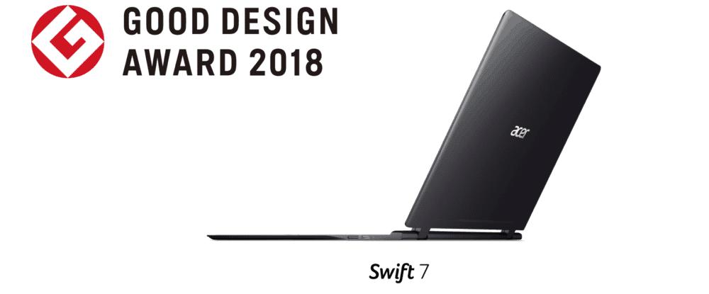 Společnost Acer získala ocenění 2018 Good Design Awards