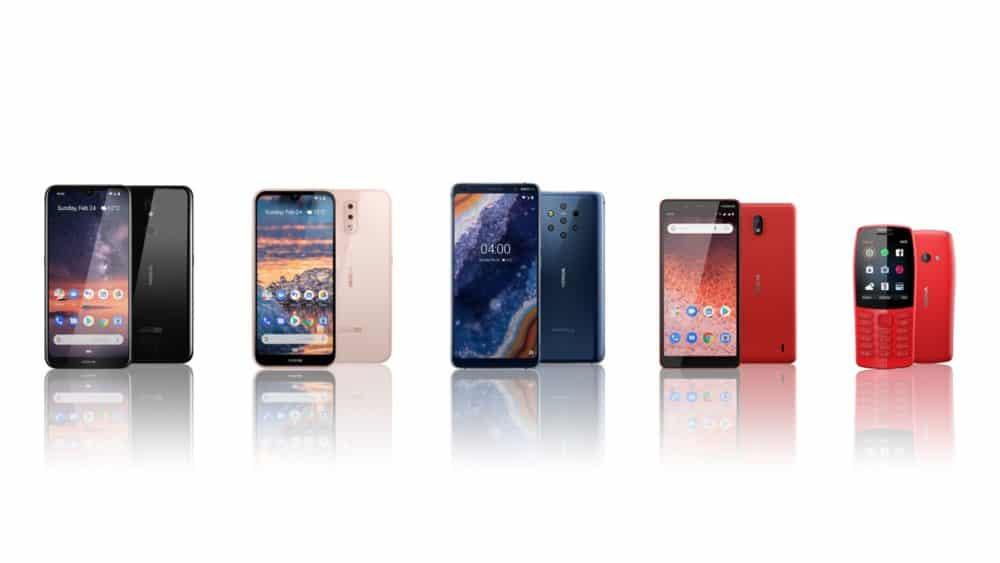 MWC 2019: pětice nových telefonů Nokia od dostupného telefonu