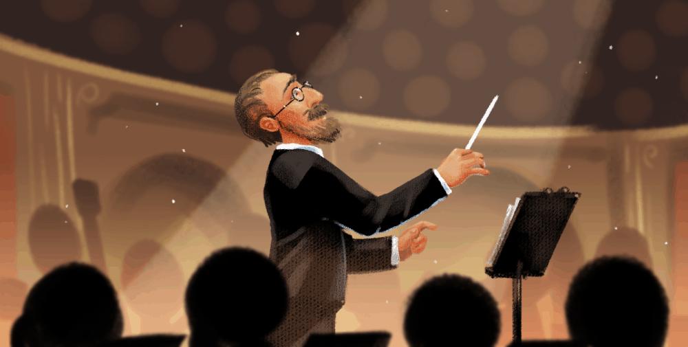 Bedřich Smetana je na Doodle od Google. Poslechněte si Vltavu
