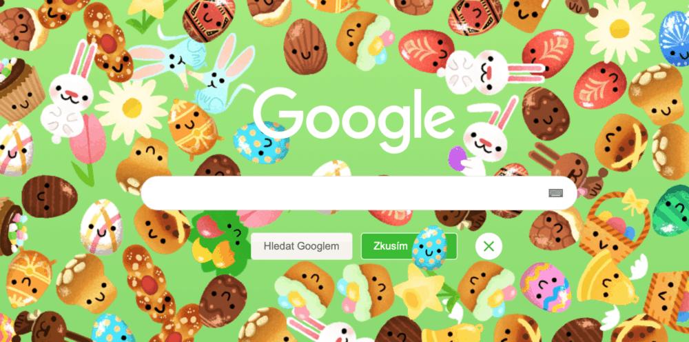 Tradice na Velikonoce? Google mění vyhledávání do zelené