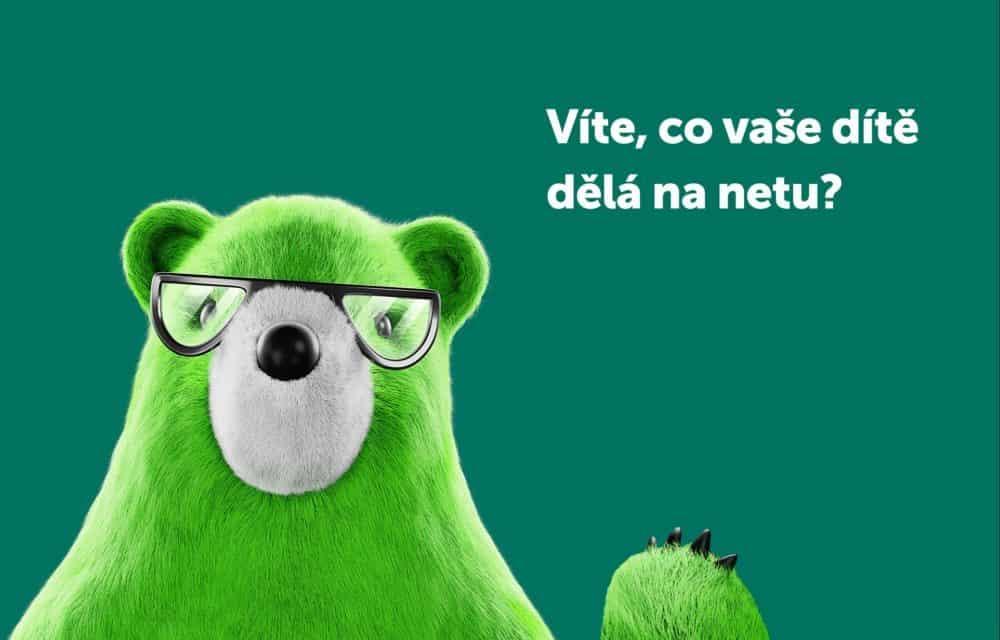 Zelený medvěd pomůže českým rodičům s ochranou jejich dětí na internetu