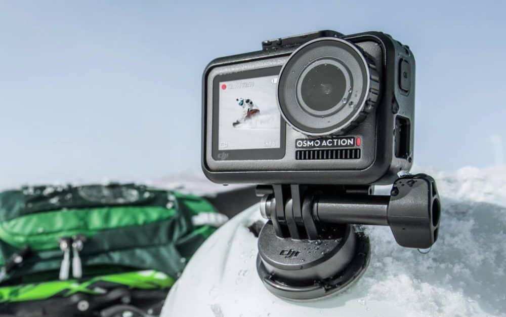 Akční kamera Osmo Action při zimním sportu