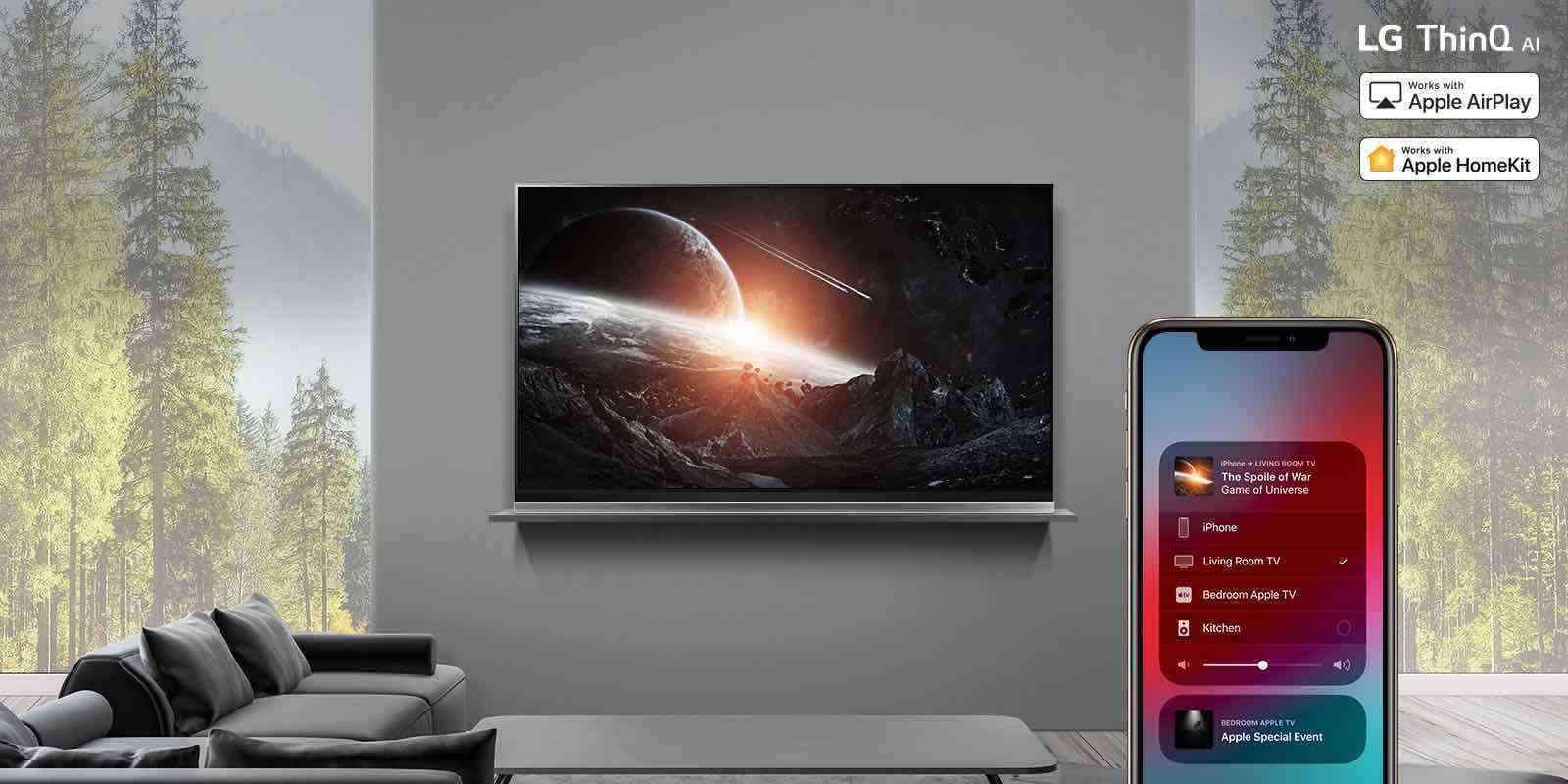 Televizory LG se dočkají důležité aktualizace. Podporují AirPlay 2 a HomeKit