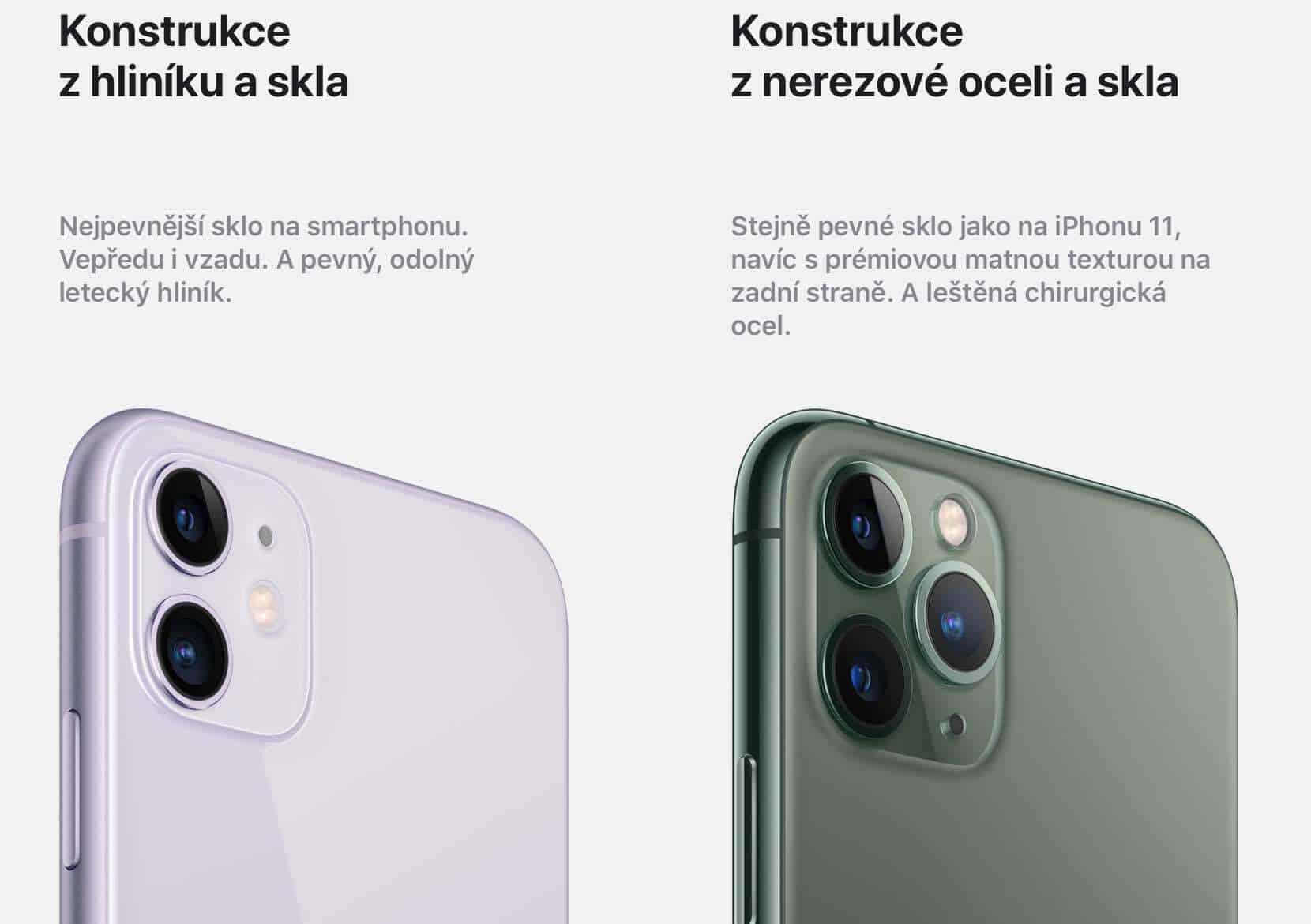 konstrukce iphone 11 a pro