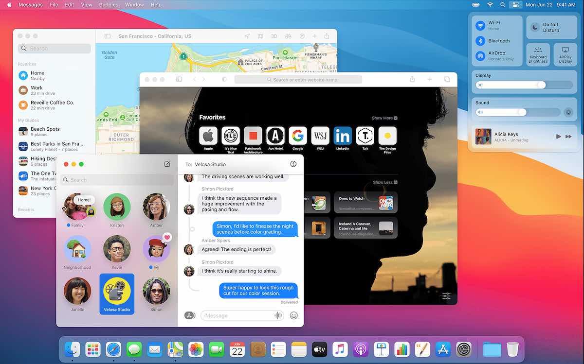 Představení oken v macOS Big Sur (Foto: apple.com)